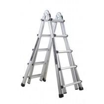 4 X 4 Rung Telescopic Step Ladder 1.12M- 1.65M Ext Ladder 3.4M